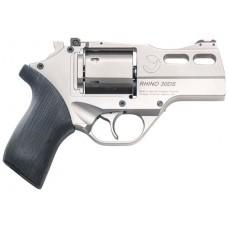 "Chiappa Firearms CF340290 Rhino 30SAR Single 357 Magnum 3"" 6 rd Black Rubber Grip Nickel"