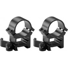Barska AI12242 Quick Release Rings 30mm Dia High Black