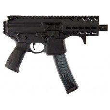 "Sig Sauer MPXK9KM MPX K AR Pistol Semi-Automatic 9mm Luger 4.5"" 30+1  Black Hard Coat Anodized"