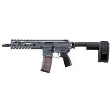"Sig Sauer PMCX300B9BTA MCX Virtus Pistol AR Pistol Semi-Automatic 300 AAC Blackout/Whisper (7.62x35mm) 9"" 30+1 Polymer Gray Receiver/Black Barrel"