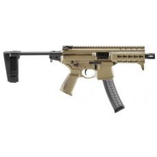 """Sig Sauer MPXKPKMPSBFD MPX K with Pistol Brace AR Pistol Semi-Automatic 9mm Luger 4.5"""" 30+1 Polymer"""