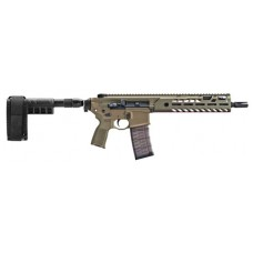 """Sig Sauer PMCX300B9BTA MCX Virtus Pistol AR Pistol Semi-Automatic 300 AAC Blackout/Whisper (7.62x35mm) 9"""" 30+1 Polymer Flat Dark Earth"""