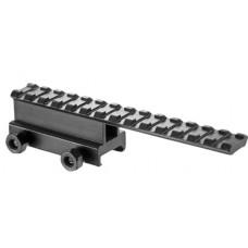 Barska AW11748 Flat Top Riser Mount  AR-15 Extension Style Black Finish