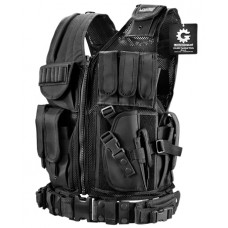 Barska BI12018 VX-200 Tactical Vest Polyester One Size Fits Most Black