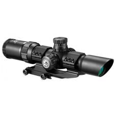 Barska AC11872 SWAT-AR 1-4x 28mm Obj 90-30 ft @ 100 yds FOV 30mm Tube Dia Black Matte Mil-Dot