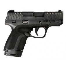 "Honor Defense HG9SCMS Honor Guard Sub-Compact Double 9mm +P 3.2"" 7+1/8+1 Ambi Safety Blk Polymer Grip Black"