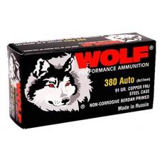 Wolf MC917FMJ Military Classic 380 Automatic Colt Pistol (ACP) 91 GR Full Metal Jacket 50 Bx/ 20 Cs