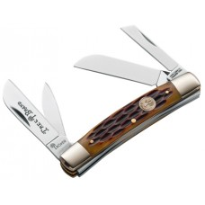 "Boker 110721 Traditional Series Knife Set 2.12"" Carbon Steel Drop Point Bone"