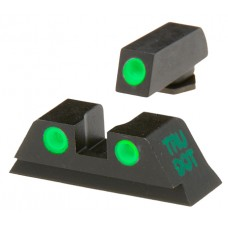 Meprolight 10220 Tru-Dot Glock 42 Night Sight Set Green Blk