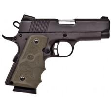"Citadel CIT45CSPHGRN M-1911 Compact Single 45 Automatic Colt Pistol (ACP) 3.5"" 7+1 Green Hogue Grip Blk"