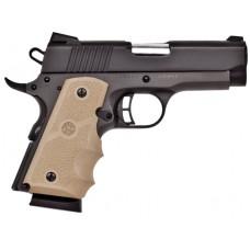 """Citadel CIT45CSPHSND M-1911 Compact Single 45 Automatic Colt Pistol (ACP) 3.5"""" 7+1 Hogue Sand Grip Blk"""
