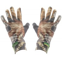 Primos 6396 Stretch Fit Gloves Sure Grip Palm Mesh One Size Fits Most Mossy Oak New Break-Up