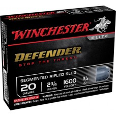 "Winchester Ammo S20PDX1S Defender 20 Gauge 2.75"" 3/4 oz Slug Shot 5 Bx/ 20 Cs"