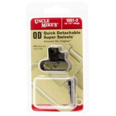 "Uncle Mikes 10013 Quick Detach Swivels 1.25""  Black"