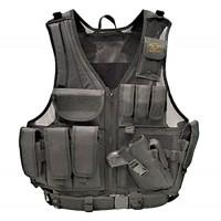 Galati Gear GLV547BH Deluxe Tactical Vest Tactical Nylon Husky Black