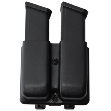 Blade-Tech AMMX00242526 Classic Double Mag Pouch Black Thermoplastic