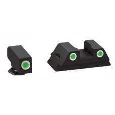 AmeriGlo GL380 Classic 3 Dot Night Sights For Glock 42/43 Black Green Front/Rear