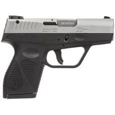 "Taurus 1740039FS 740 Slim Single/Double 40 Smith & Wesson (S&W) 3.2"" 6+1 Black Polymer Grip Stainless Steel"
