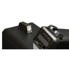 Hiviz GLN125 Tritium Nitesight Set Glock 9mm/40S&W/357Sig Green w/White Outline