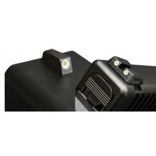 Hiviz GLN129 Tritium Nitesight Set Glock 45ACP/10mm/45GAP Green w/White Outline