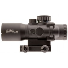 Sun Optics PS30432IR Tactical Precision 4x 32mm Obj 20 ft @ 100 yds FOV  Tube Dia Black Matte Illuminated Mil-Dot, 3 Color