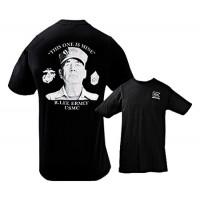Glock GA10062 Short Sleeve Ermey Gunny T-Shirt Black Medium Cotton