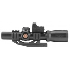 "Aim Sports ACRFFR Tri-Illuminated Red Dot 1-4x24mm Obj 4.2"" Eye Relief 3 MOA Black"