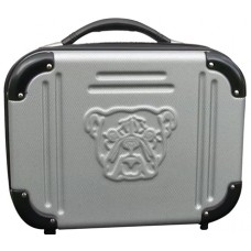 "Bulldog BD580 Molded Double Pistol Case ABS Poly Textured 8.5""x11.5""x5"" Gray/Blk"