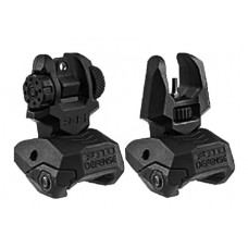 Mako FRBS Flip Up Backup Sight Set AR-15/M4/M16 Picatinny Rail Black