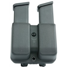 Blade-Tech AMMX0024GEN9 Signature Double Mag Pouch Black Thermoplastic