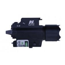 NcStar AQPFLSG 200L Flashlight/Green Laser QR Mount Rail Mount Black