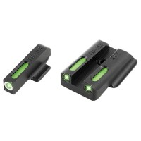Truglo TG13RS2A TFX Night Sights Ruger LC9/LC9s/LC380 Tritium/Fiber Optic Green w/White Outline Front Green Rear Black