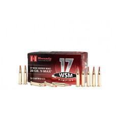 Hornady 83180 17 WSM 17 Winchester Super Magnum  (WSM) 20 GR V-Max 50 Bx/10 Cs