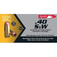 Aguila 1E402115 40 S&W 180 GR JHP 50Box/20Case