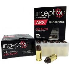 PolyCase Ammo 380ARXBR25 Inceptor ARX 380 ACP 56GR 25Box/10Case