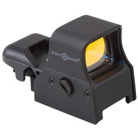 Sightmark SM14000 UltraShot 1x34mm 4 Pattern Red Reticle Clamshell Pack Unlimited Eye Relief 5 MOA Black Matte