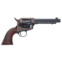"Taylors and Company 4052 Cattleman Single Action 22 Long Rifle 5.5"" 12rd Walnut Grips Blued"