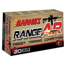 Barnes 30844 Range AR 5.56 NATO 52GR OTFB 20Box/10Case