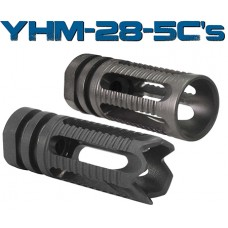 "Yankee Hill 28-5C1 Phantom Flash Hider 5.56mm Smooth Endcuts 1/2""-28 TPI Blk"