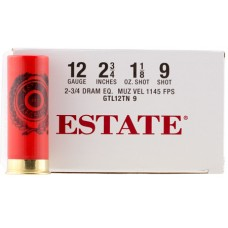 "Estate GTL12TN9 Dove and Target 12ga 2.75"" 1-1/8 oz 9 Shot 25 Bx/ 10 Cs"