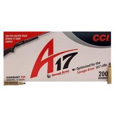 CCI 949CC A17 17 Hornady Magnum Rimfire (HMR) 17 GR Varmint Tipped 200 Bx/ 10 Cs