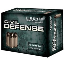 Liberty LACD45013 Civil Defense 45 LC 78 GR LF Fragmenting HP 20Bx