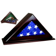 "Peace Keeper PFC Patriot Flag Case with Concealment 22""x4.25""x11.5"" Wood"