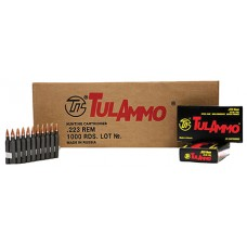 Tulammo TA223552 Centerfire Rifle 223 Remington/5.56 NATO 55 GR Hollow Point 20 Bx/ 50 Cs