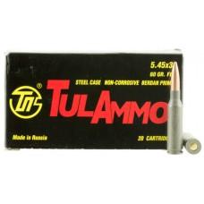 Tulammo TA545390 Centerfire Rifle 5.45mmX39mm 60 GR FMJ 20 Bx/ 50 Cs