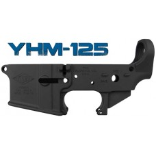 Yankee Hill 125-BILLET Billet Lower Receiver AR-15 223 Rem/5.56 NATO Black
