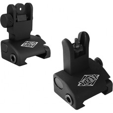 YHM 5040 Quick Deploy Folding Sight Same Plane Standard Stem Aluminum Black
