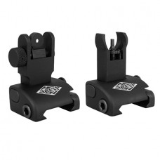 YHM 5040H Quick Deploy Folding Sight Same Plane Hooded Stem Aluminum Black