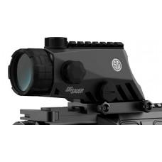 Sig Sauer Electro-Optics SOB44001 Bravo4 4x 30mm Obj 53 ft @ 100 yds FOV 30mm Tube Dia Graphite/Black Illuminated Horseshoe Dot
