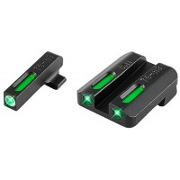 Truglo TG13SM1A TFX Day/Night Sights Steyr Tritium/Fiber Optic Green w/White Outline Front Green Rear Black